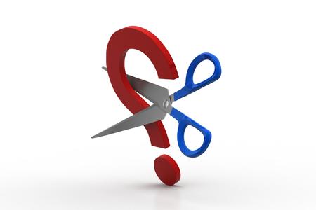 Scissor cut the question mark