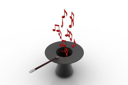 melodic: Music signs coming from the magic hat