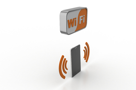 Smart phone with wifi signal