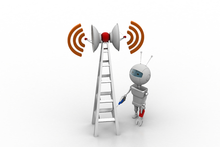 Wifi signal tower servicing