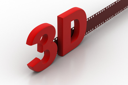 3d text with reel