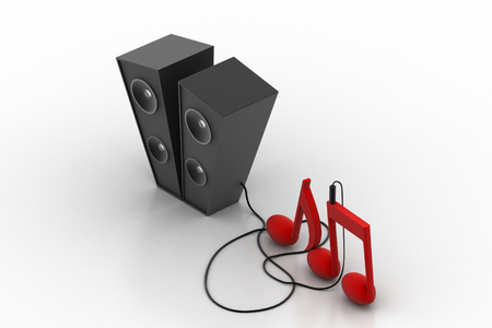 subwoofer: subwoofer system connect with music sign