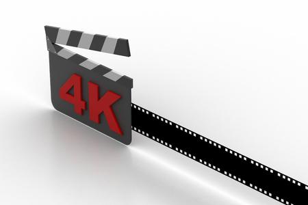 Digital clapboard with film