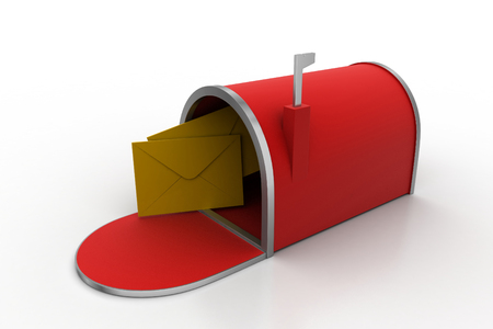 Mail box with email