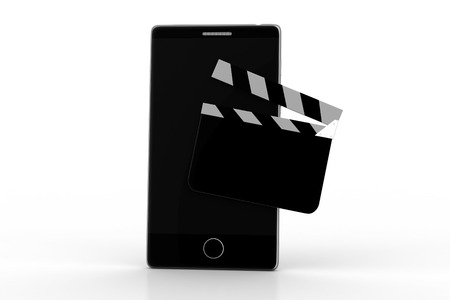 clapper board with a smart phone Stock Photo
