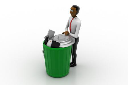 Man with trash box Stok Fotoğraf - 89508998