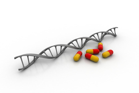 Medical capsules with DNA structure
