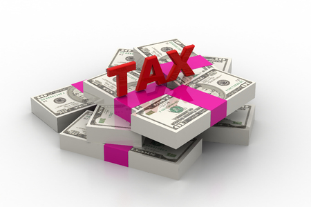 Tax on dollar currency Stock Photo