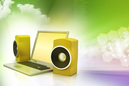 ノート パソコンやサウンド システム
