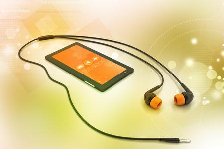 multimedia smart phone with earphones
