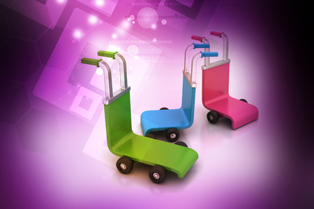 3d rendered trolley