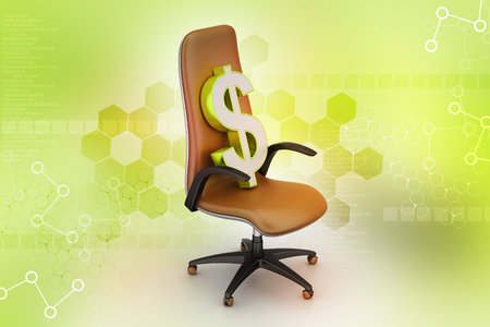 Dollar sign sitting the executive chair
