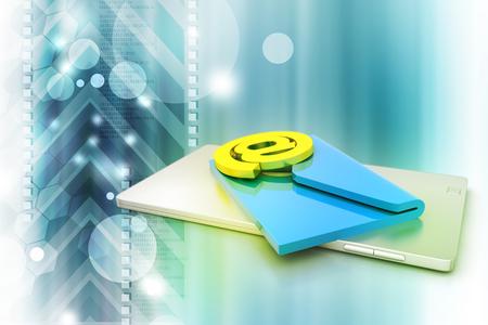 Tablet PC con correo electrónico Foto de archivo