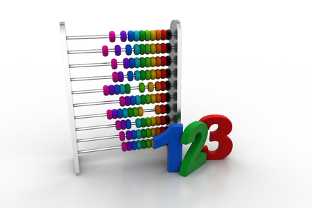 Abacus with numbers