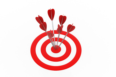 Arrows hitting the target