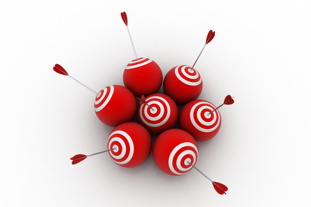 Target ball with arrows