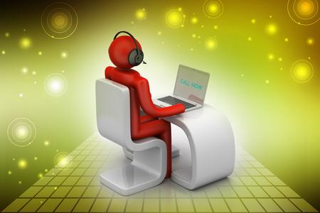 man in a modern desk with laptop   Foto de archivo