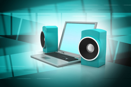 Laptop and sound system