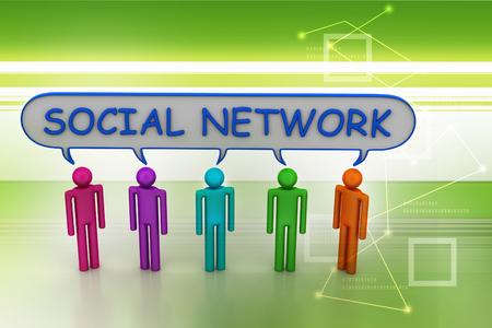 Social network concept Banque d'images