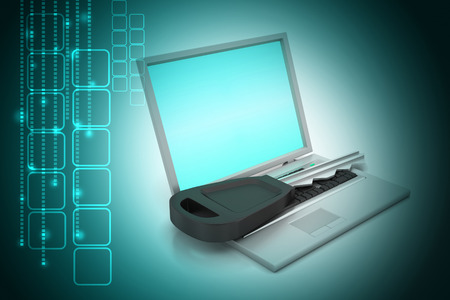 laptop on key