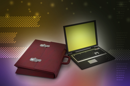 Laptop with bag
