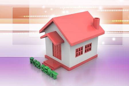 Real estate concept House for rent