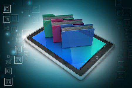Tablet PC with file folder