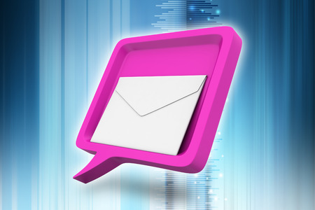 Speech bubble with mail Banque d'images
