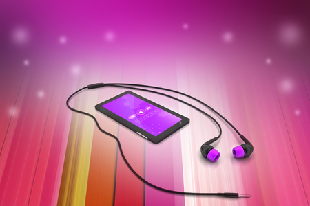 multimedia smart phone with earphones