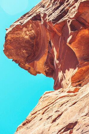brown rock formation under blue sky during time nature awesome nice new beautifully photo