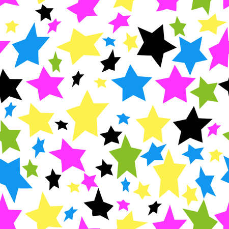 Pattern seamless colorful stars abstract background, wallpapers