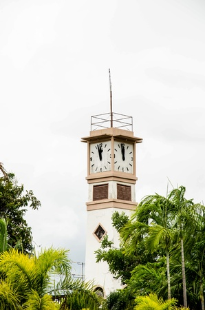Clock tower on town square Stock Photo - 16018458