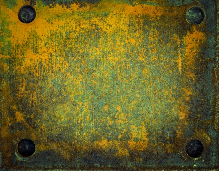 old metal surfaces with rust and paint Stock Photo - 18282597