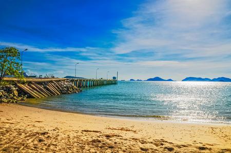 beach and tropical sea  and sunshine photo