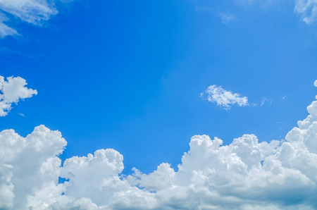 white clouds: blue sky Stock Photo