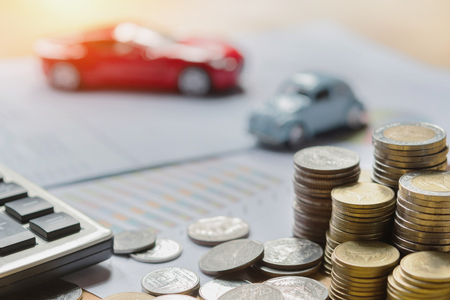 concept business finance and car insurance