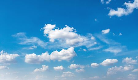 panorama blue sky with cloud and sunshine background Banco de Imagens