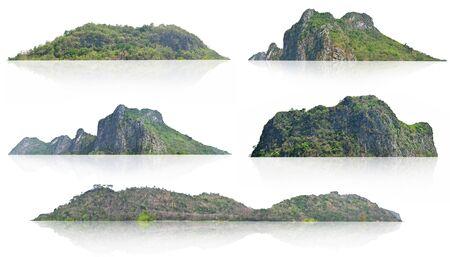 collection mountain isolate on white background Stockfoto