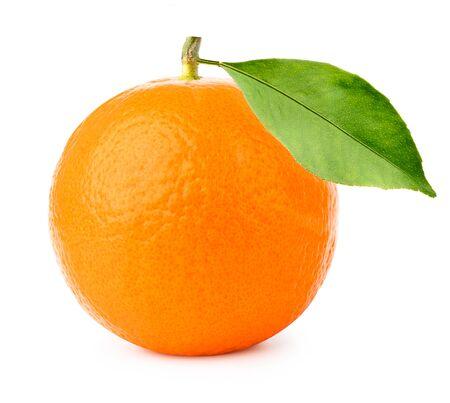 ripe orange fruit isolate on white background Stockfoto