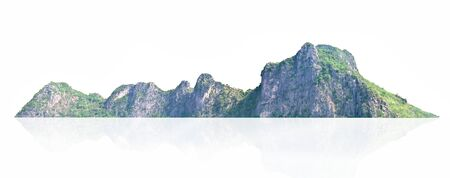 panorama mountain with tree isolate on white background Stockfoto