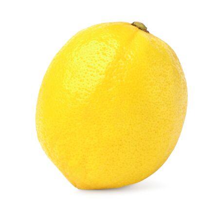 ripe lemon isolate on white background