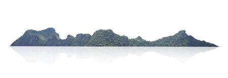 mountain isolate on white background