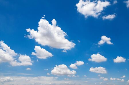 white cloud with blue sky background Stockfoto