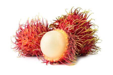 ripe rambutan isolate on white background