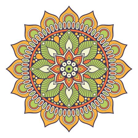 weave: Flower Mandala. Vintage decorative elements. Oriental pattern, vector illustration. Islam, Arabic, Indian, moroccan,spain, turkish, pakistan, chinese, mystic, ottoman motifs. Coloring book page