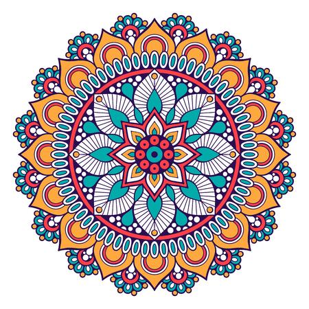 weave: Flower Mandala. Vintage decorative elements. Oriental pattern, vector illustration. Illustration
