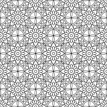 Vector seamless mandala pattern