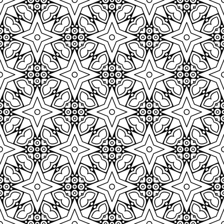 A black and white mandala pattern.