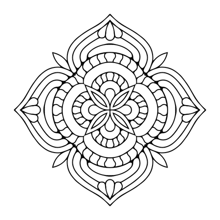 Vector mandala arabesque ornament illustration.