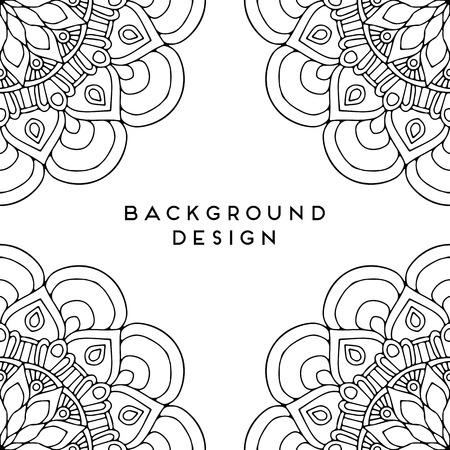 Vector mandala black background